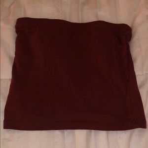 Rust/maroon colored tube top